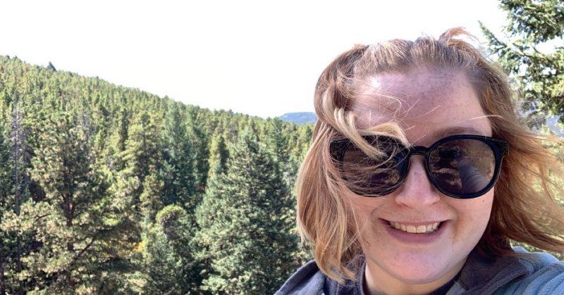 Caroline Skelton hiking