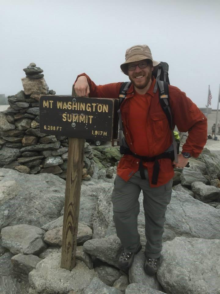 Jeremy Zahler at Mt Washington Summit